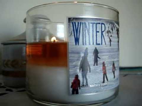 bath and body works winter candle review